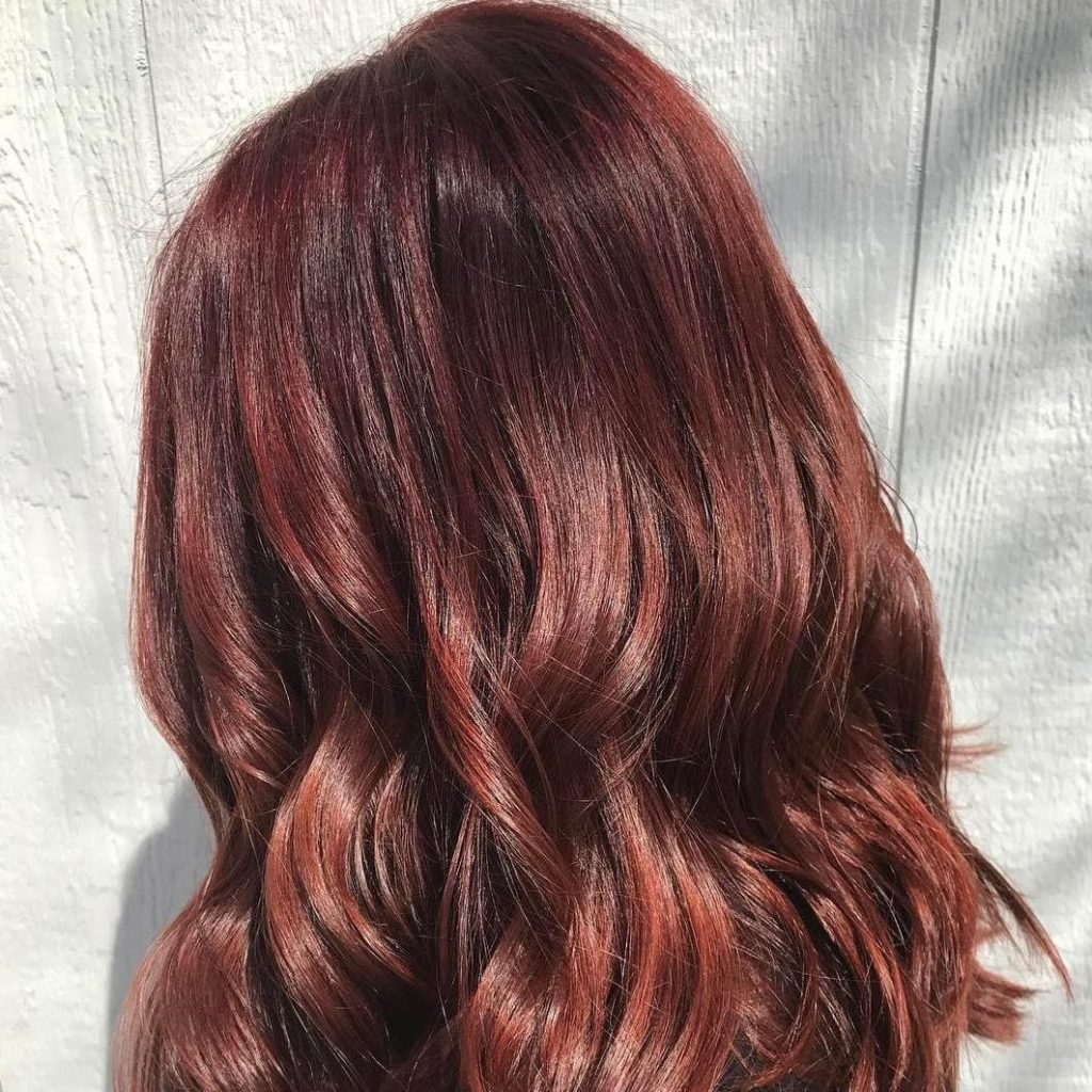 colore capelli castano mogano